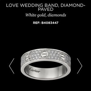 Cartier Love Wedding Ring Pave Diamond White Gold